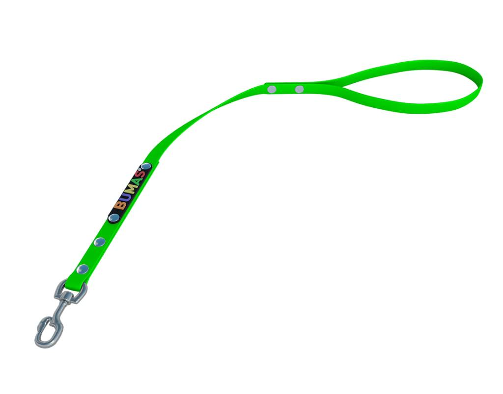 BUMAS - das Original. BUMAS – control – korthouder van BioThane® en neon groen
