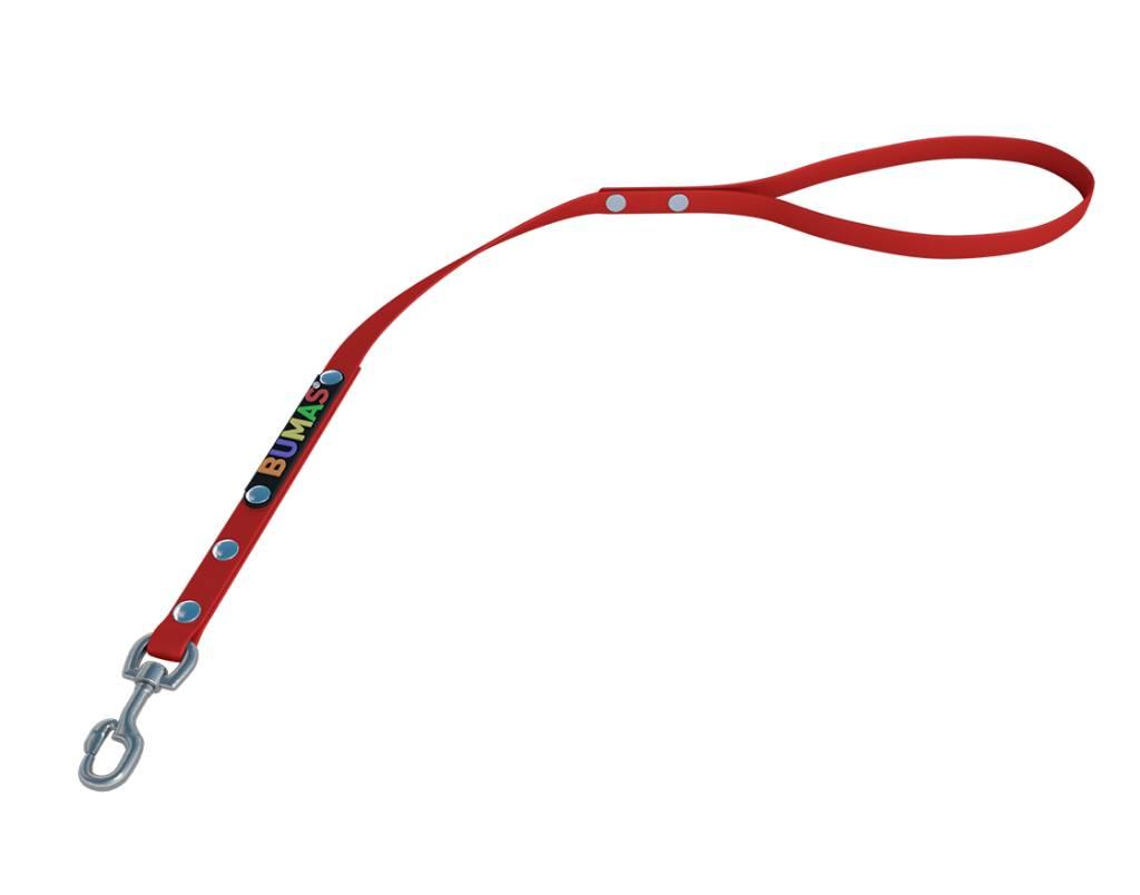 BUMAS - das Original. BUMAS - control - der Kurzführer aus BioThane® in rot