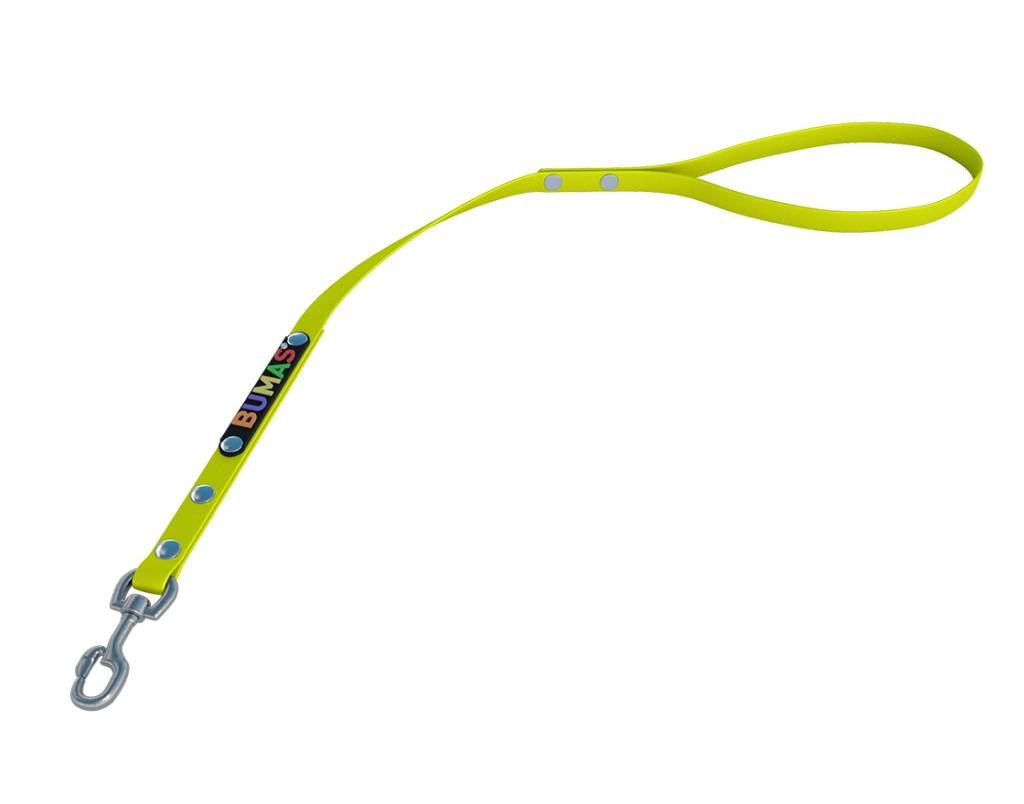 BUMAS - das Original. BUMAS – control – korthouder van BioThane® en neon geel