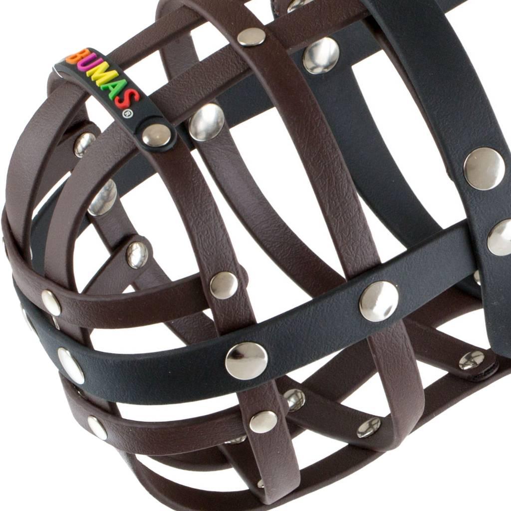 BUMAS - das Original. BUMAS Muzzle for Rhodesian Ridgebacks made of BioThane®, brown/black