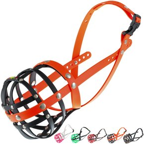 BUMAS Muzzle French Bulldog, black/neon orange