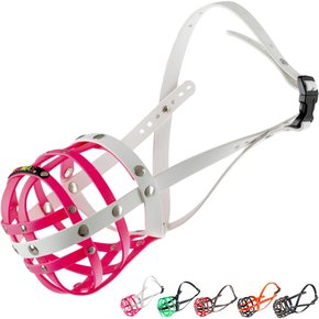BUMAS Muzzle American Staffordshire Terrier, pink/white