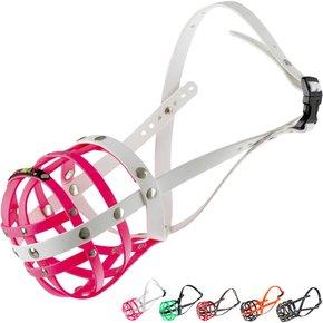 BUMAS Muzzle Bulldog, pink/white