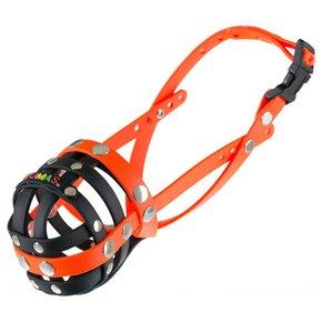 BUMAS muzzle Size 4, black/neon orange