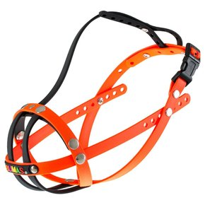 BUMAS muzzle Size 6, black/neon orange