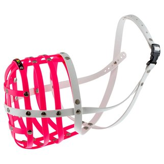 BUMAS muzzle Size 12, pink/white