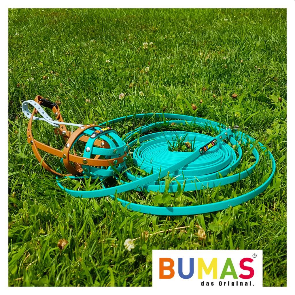 BUMAS - das Original. BUMAS - sport - tracking leash made of BioThane® in neon yellow
