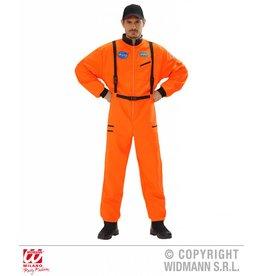 Oranje pakken astronaut  man