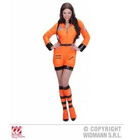 Oranje kostuum astronaut