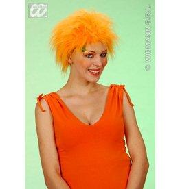 WK pruik oranje pluche