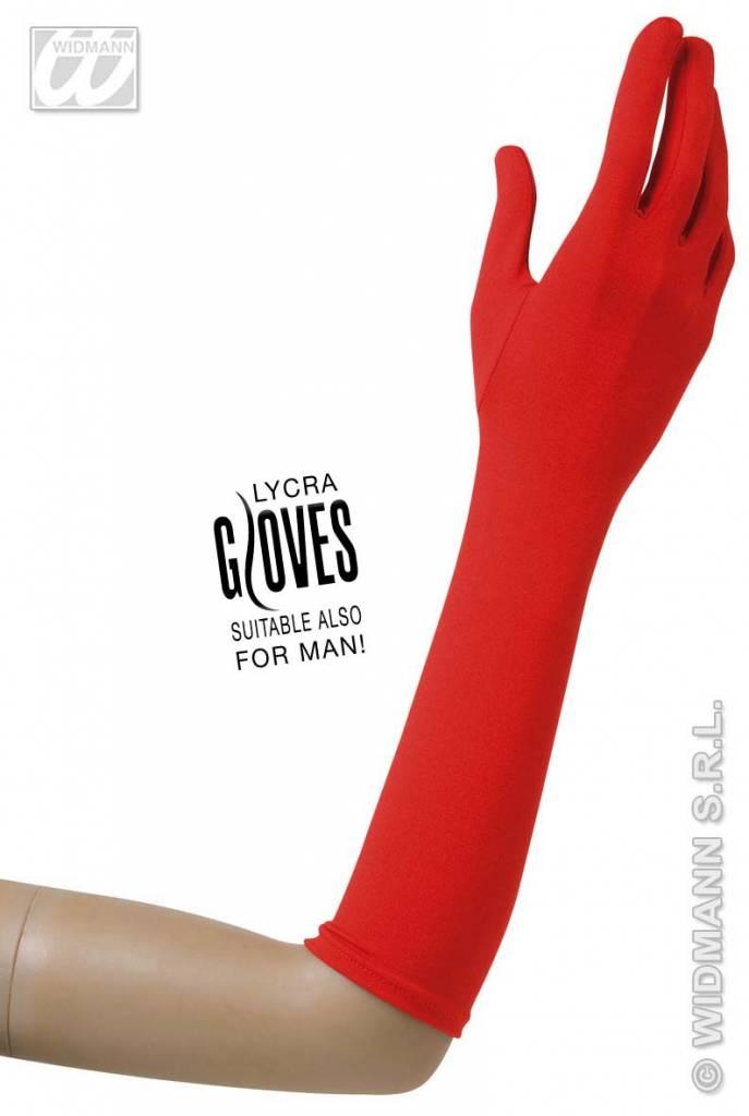 Rode lycra handschoenen
