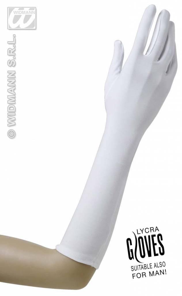 Witte handschoenen lycra
