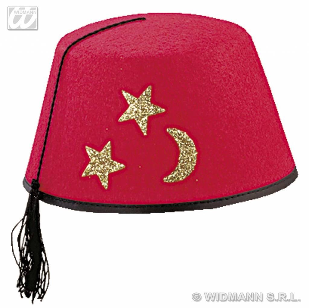 Toppers- artikelen Rode Arabieren Fez hoed