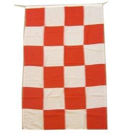Vlag de luxe rood/wit 150x90cm