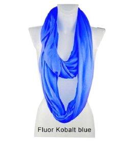 Sjaal fluor blauw