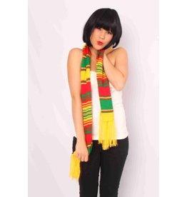 Sjaal rood/geel/groen toncho