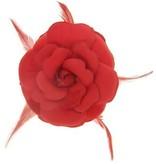 Bloem speld rood