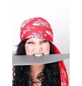Piraten hoofddoek rood