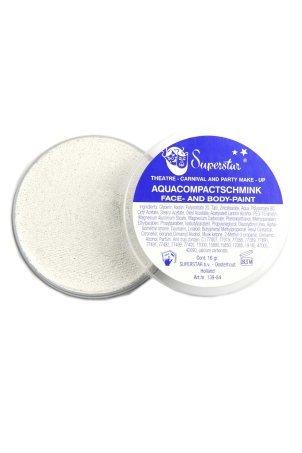 Aquaschmink zilverwit met glitter