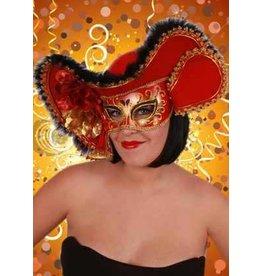 Oogmasker dames rood