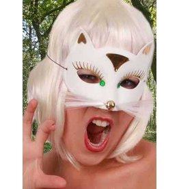 Oogmasker kat wit