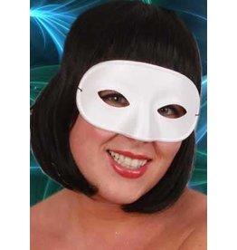 Wit oogmasker domino