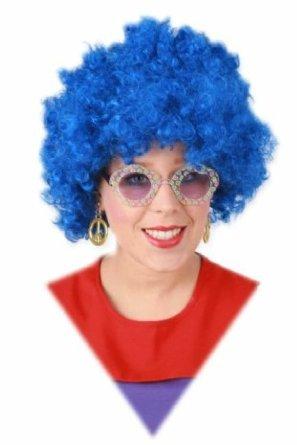 Blauwe hippiepruik