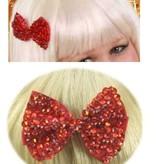 Haarklem strikje rood