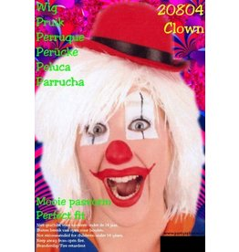 Witte pruik clowny