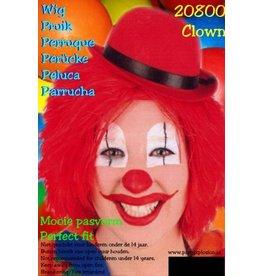 Rode pruik clowny