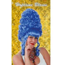 Hofdame pruik blauw