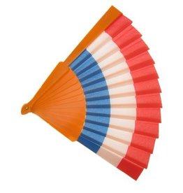 Waaier rood-wit-blauw-oranje