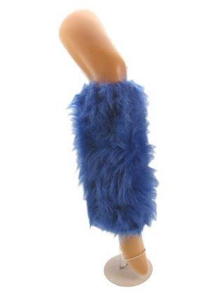 Beenwarmers pluche blauw