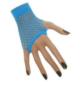 Nethandschoen kort vingerloos blauw