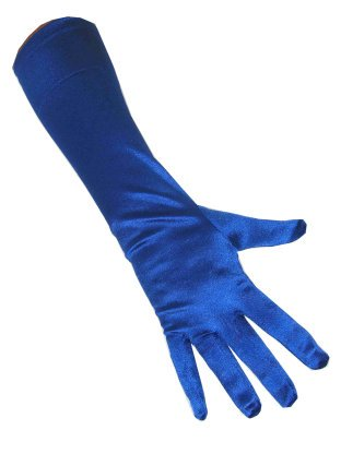 Handschoenen satijn stretch blauw