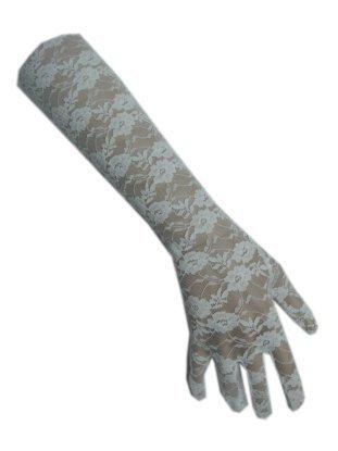 Handschoen kant wit