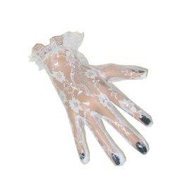 Kanten handschoenen wit