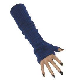 Vingerloze handschoen lang blauw