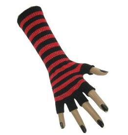 Vingerloze handschoen fluor rood