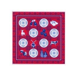 Zakdoek Delfts rood