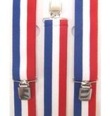 Bretels rood/wit/blauw