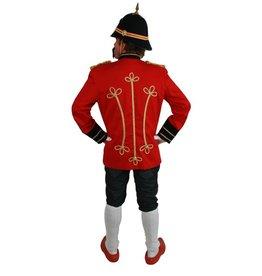 Schutterij jas luxe rood/zwart