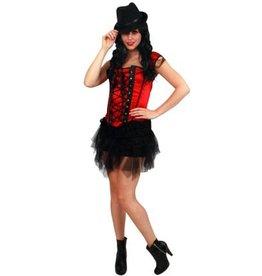 Sexy topje rood/zwart