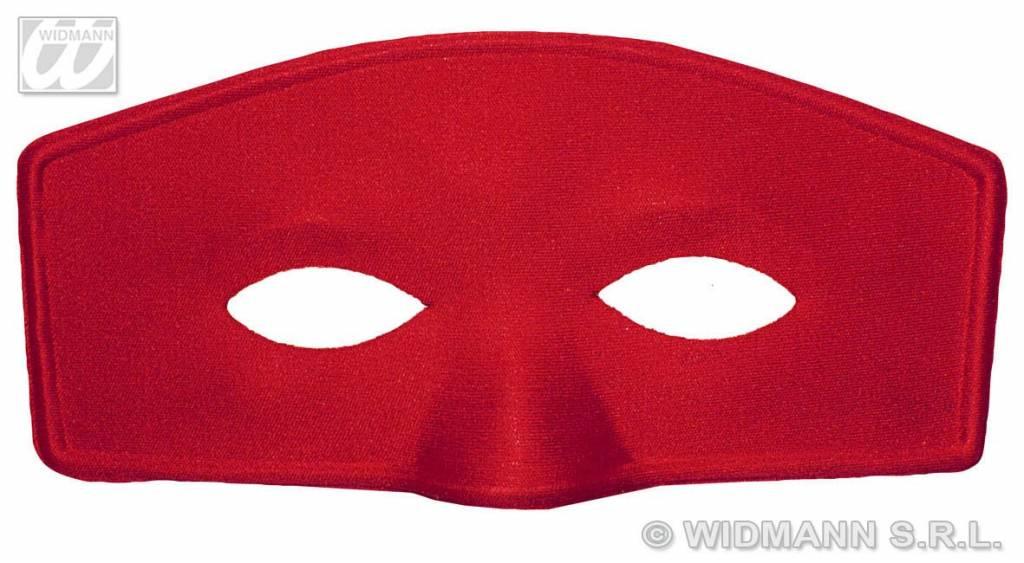 Oogmasker rood met wit
