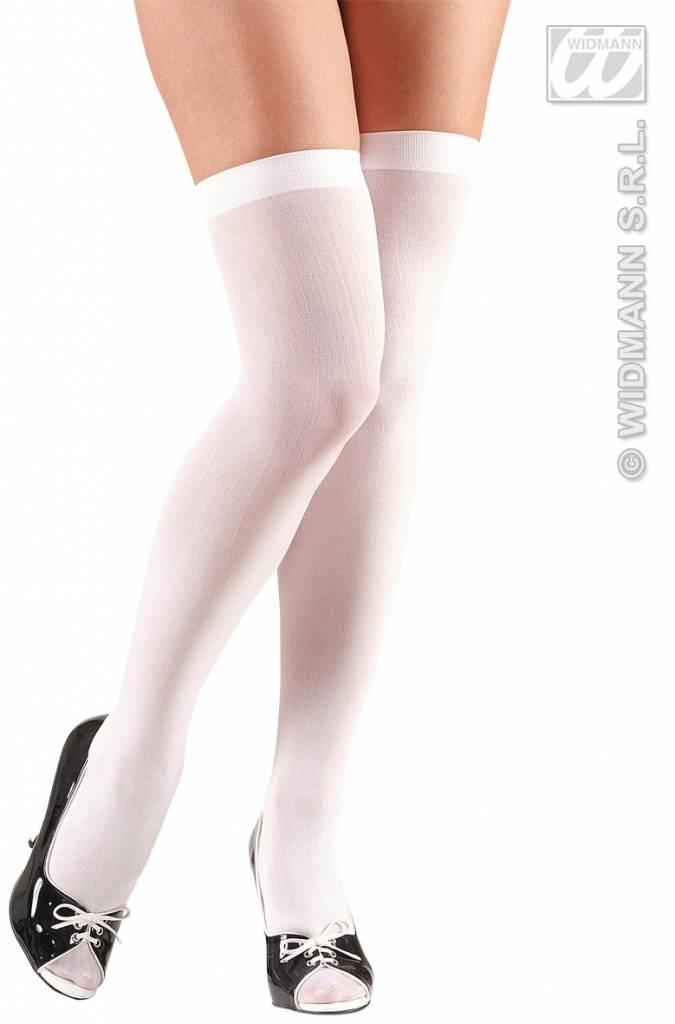 Witte kniekousen XL