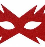 Rood oogmasker ster