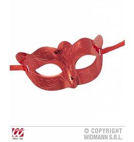Metallic oogmasker rood