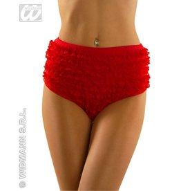 Kanten panty rood