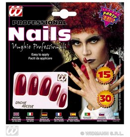 Rode nagels set 15 stuks