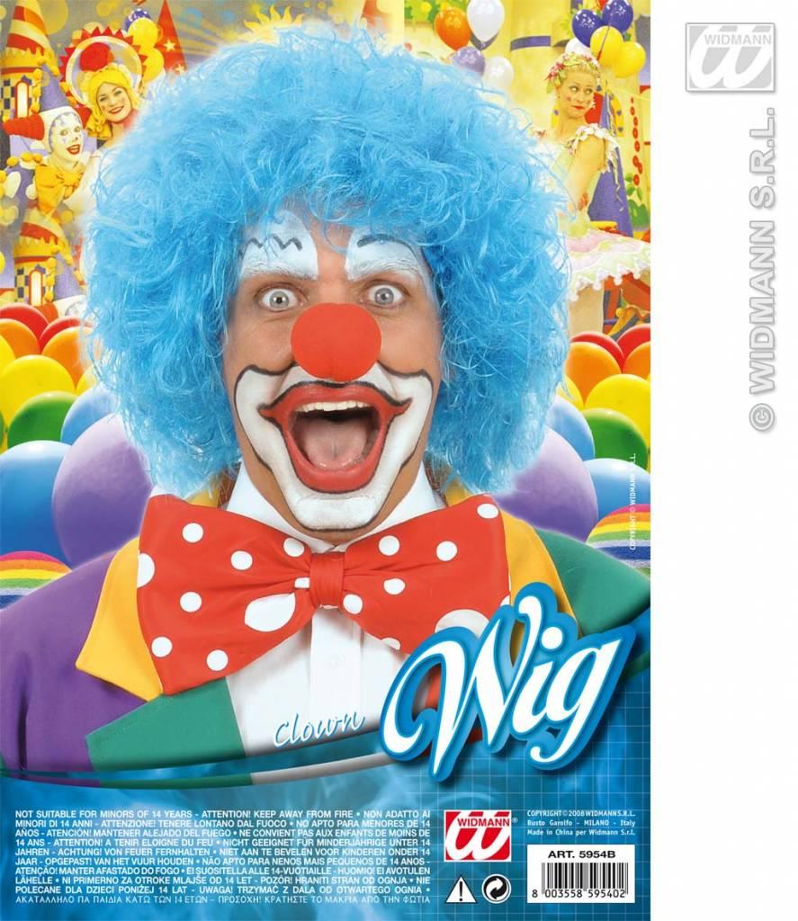 Clownpruik blauw